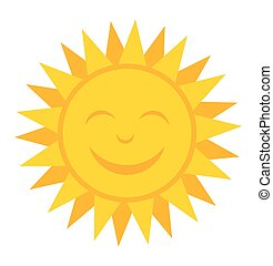 Smiling sun. Vector illustration