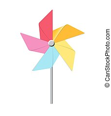 Windmill Toy Vector Illustration