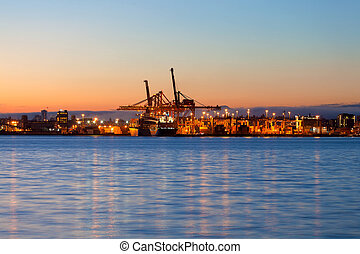Port of Vancouver at Dawn