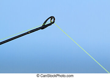 Fishing Pole Tip - The tip of a fishing pole with line is...