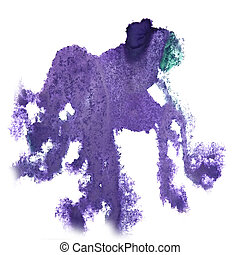 abstract light lilac hand drawn watercolor blot insult...