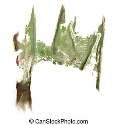 abstract hand light green drawn watercolor blot insult...
