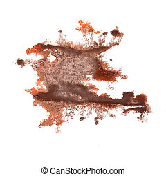 abstract hand brown drawn watercolor blot insult Rorschach...