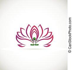 Yoga lotus flower logo