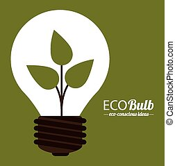 Eco design, vector illustration