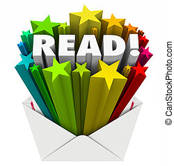 Read Word Stars Envelope Share Message Mailing Outreach -...