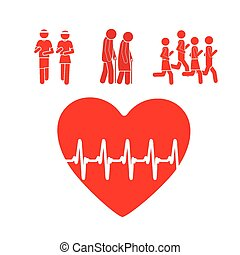 Cardiology design, vector illustration