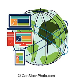 Internet design, vector illustration