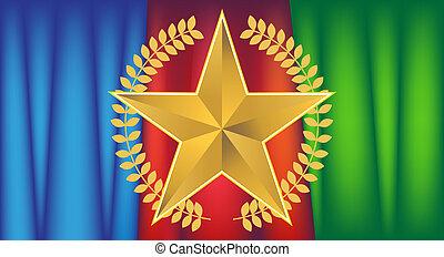 wreath star background