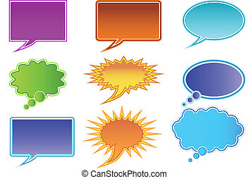 Communication bubble isolated on a white background
