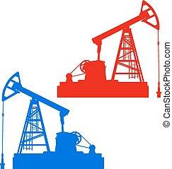 Oil pumpjack. Oil industry equipment - The Oil pumpjack Oil...