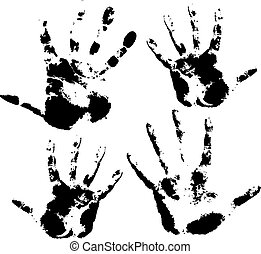Hand print, skin texture pattern, vector illustration