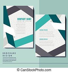 elegant brochure template design with paper folded elements
