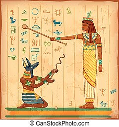 Egyptian art of human - illustration of Egyptian art of...