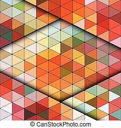 Colorful Vintage Pattern - Vector Abstract Colorful Vintage...