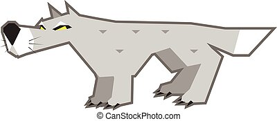 Angry gray wolf - Vector illustration of an angry gray wolf...