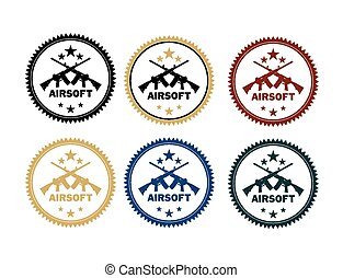 airsoft badges - suitable for illustrations