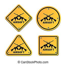 airsoft roadsigns - suitable for illustrations