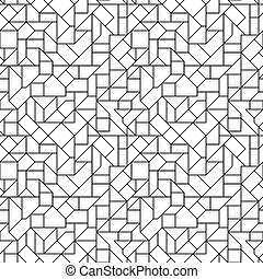 Seamless Circuit Background - Vector Monochrome Seamless...