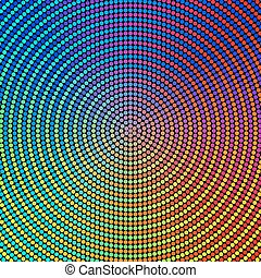 Colorful Circles Background - Vector Abstract Colorful...