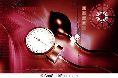 Sphygmomanometer - Digital illustration of sphygmomanometer...