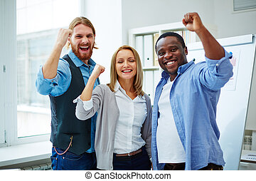 Successful team - Business team enjoying success