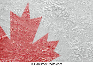 Fragment of the Canadian flag