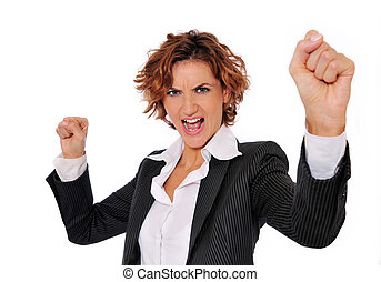 Successful Power Woman - Successful business woman in charge...