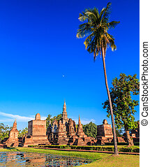 Sukhothai historical park, the old town of Thailand , They...