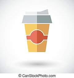 Paper fast food cup.