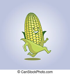 Fresh maize 01 - Cute fresh running cartoon athletic maze...