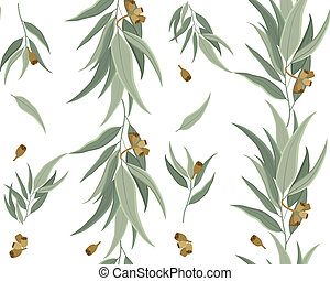 Pattern Eucalyptus - Seamless pattern of eucalyptus leaves...