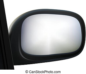 side mirror - car side mirror on white background