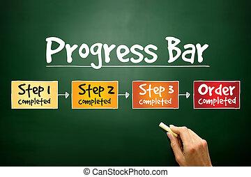 progreso, barra, proceso,