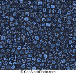 Business and Finance Seamless Pattern Background with...