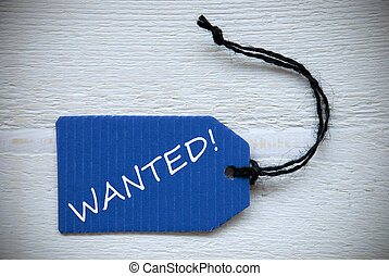 Blue Label With English Text Wanted - Blue Label Or Tag With...