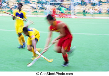 Field Hockey Action (Blurred) - Image of men\'s field hockey...