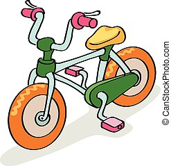 Bicycle cartoon colorful,  isolated on white background