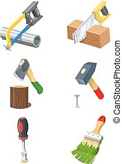 Tools. Set of vector icon.