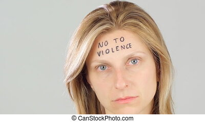 violence against woman concept - woman against sexual...