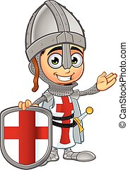 St. George Boy Knight Character - A illustration of a...