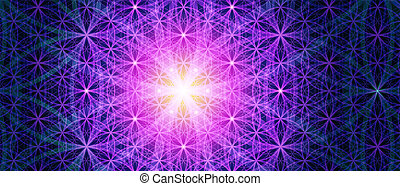 The Flower Of Life background - Symbols of sacred geometry,...