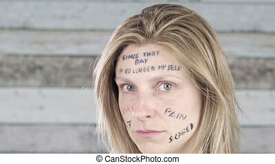 woman violence abuse concept - campaign against sexual...