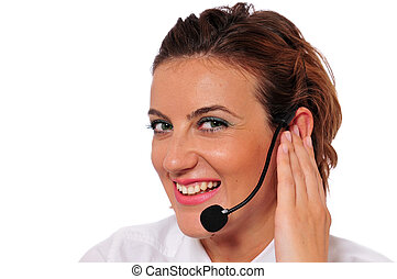 Smiling Female Call Agent