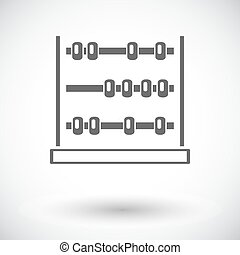 Abacus. Single flat icon on white background. Vector...