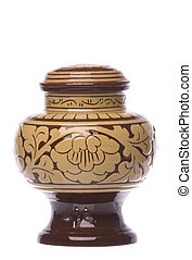 Soy Bean Urn Isolated - Isolated image of a soy bean urn.