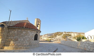 Small scenic old byzantine church - Small scenic very old...