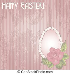 Happy Easter gift card, vector