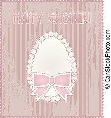 Happy Easter egg vintage card