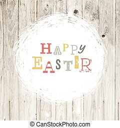 Happy easter vintage greeting card with nest symbol
